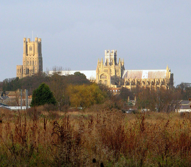 The last rays of late November sunshine on Ely Cathedral