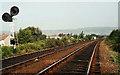 J3583 : Railway signals, Bleach Green Jct near Whiteabbey by Albert Bridge
