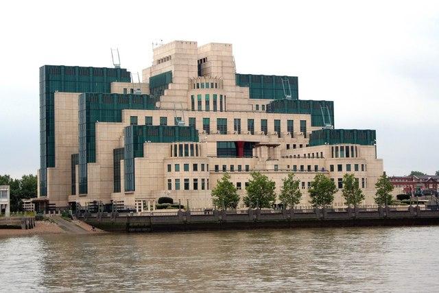 MI6 Headquarters, nr. Vauxhall Bridge