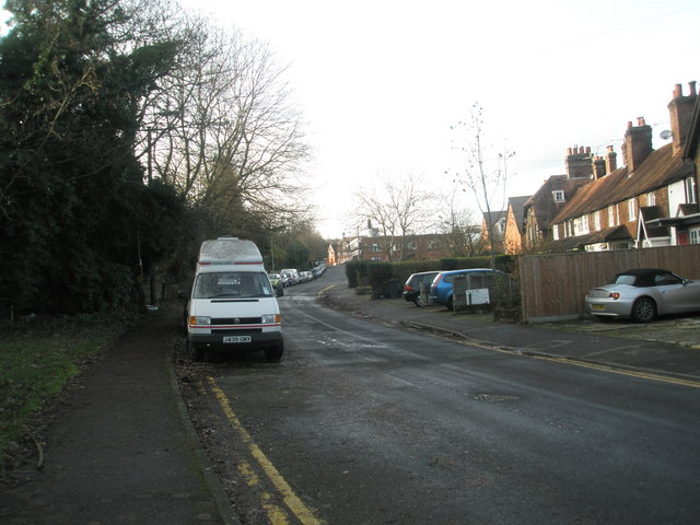 Parked vehicles in Catteshall Lane by Basher Eyre