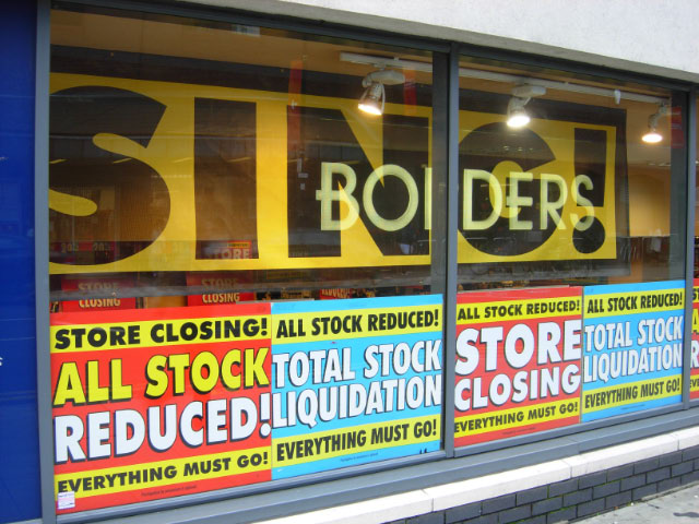Borders is closing down