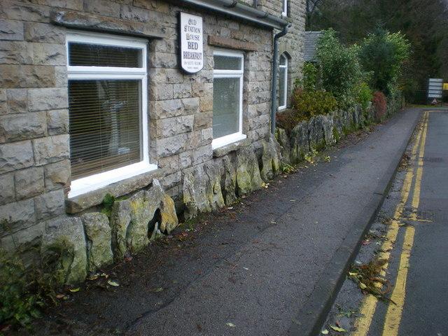 Limestone pavement wall