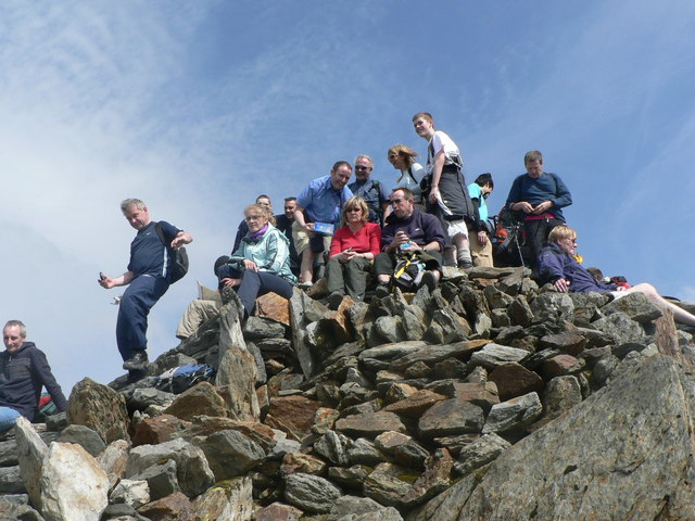 Snowdon Summit (mind the step !)