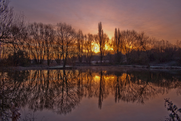 Crisp Morning Reflection