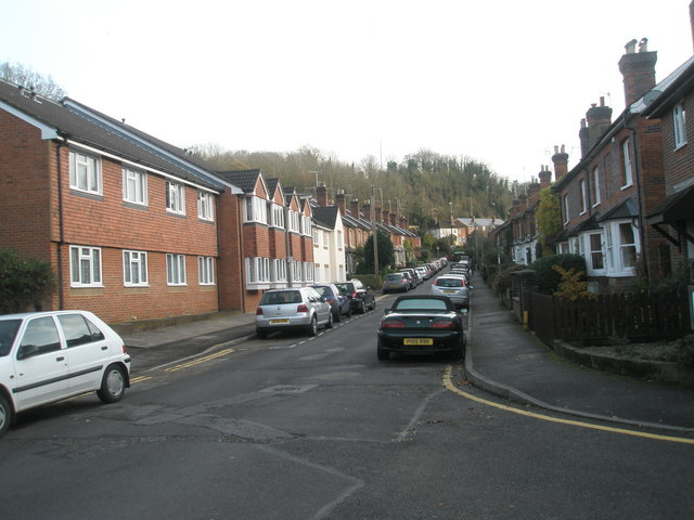 Looking south- east up Town End Street by Basher Eyre