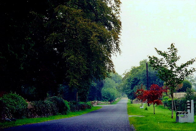 Castledaly Manor area - R444 near the manor