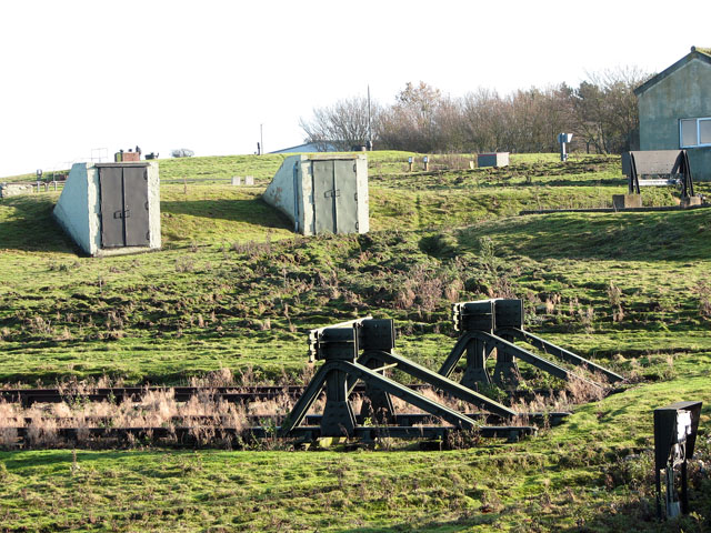 Old buffer stops at end of disused railway sidings