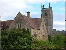 ST5464 : Court farm and church, Winford by Derek Harper