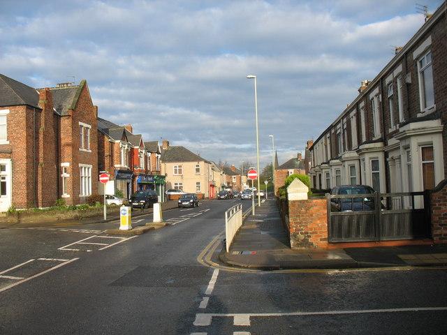 Bede Burn Road in Jarrow