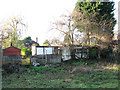 TG1704 : Back gardens of Station Cottages by Evelyn Simak