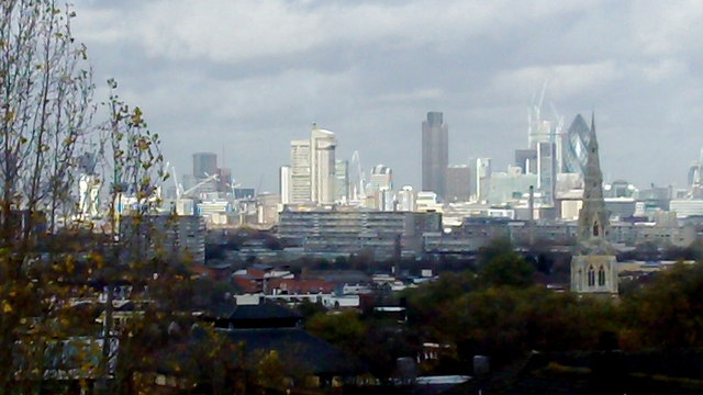 The City of London from Denmark Hill