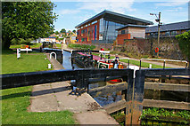 SO8453 : Lock No 1 Worcester and Birmingham Canal by Phil Champion