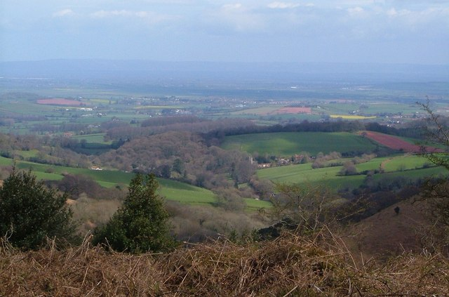 Aisholt from the Quantock crest
