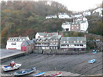 SS3124 : Clovelly harbour by Eirian Evans
