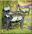 J3269 : Benches, Barnett Demesne by Rossographer
