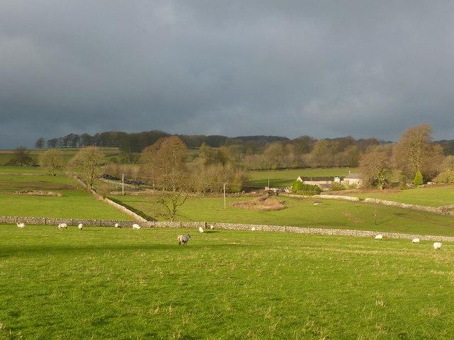 Kenslow Farm in winter sunlight