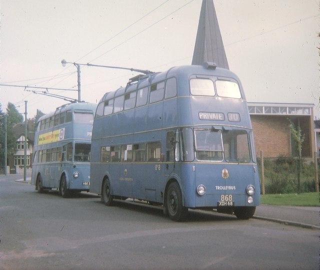 Walsall trolleybuses in Carl Street