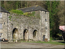 SX4268 : Old lime kilns at the back of the quay at Cotehele by Sarah Charlesworth
