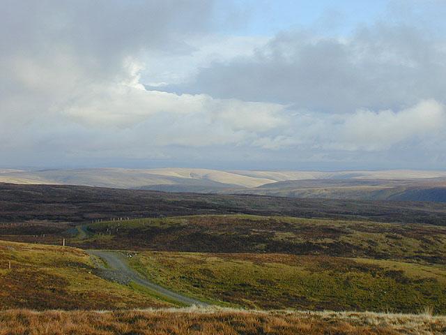 Elenydd landscape from Pen y Garn