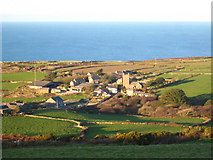 SW4538 : Looking down on Zennor from Trewey Hill by Rod Allday