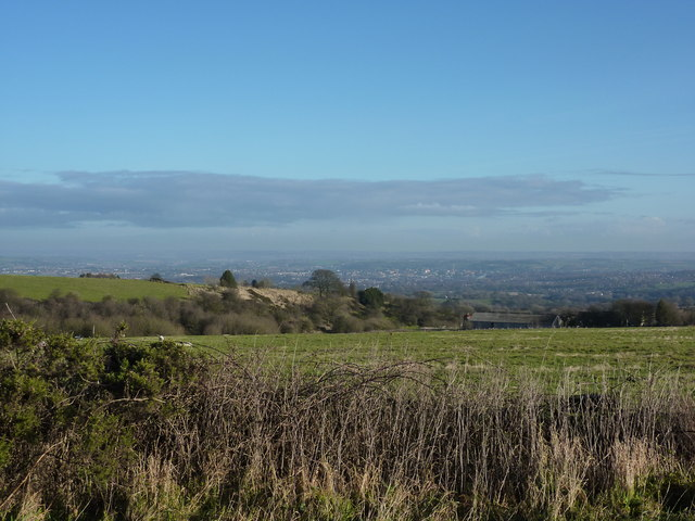 From Syda Lane, towards Chesterfield
