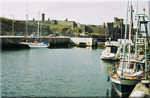 SC2484 : Peel Harbour and Castle by Donald MacDonald