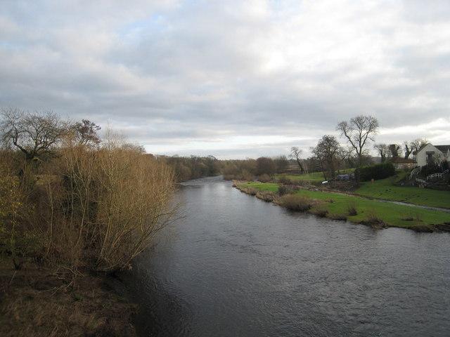 River Tees at Piercebridge - view east