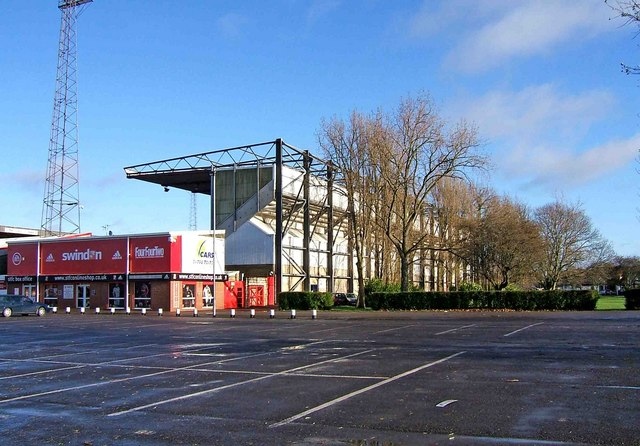 The Don Rogers Stand (external view), Swindon Town Football Club, The County Ground