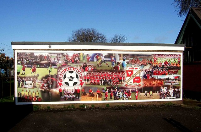 Football in the Community mural, The County Ground