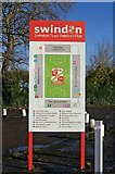SU1585 : Swindon Town Football Club information board at The County Ground by P L Chadwick
