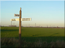 SK7645 : Fingerpost at Sibthorpe by Alan Murray-Rust