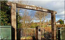 J3773 : Comber Greenway sign, Belfast by Albert Bridge