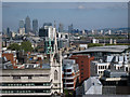 TQ3380 : View to Canary Wharf by Oast House Archive