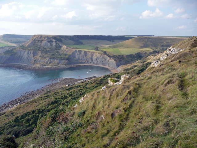 Chapmans Pool and Houns-tout from Emmetts Hill