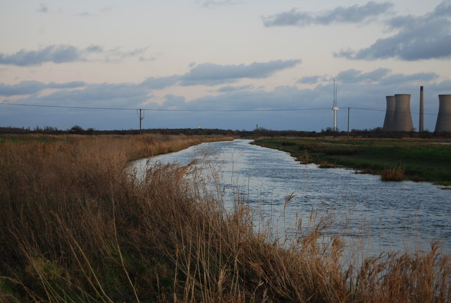 Looking downstream along the River Stour