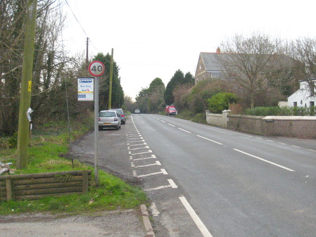 Bus stop on the road to Chacewater