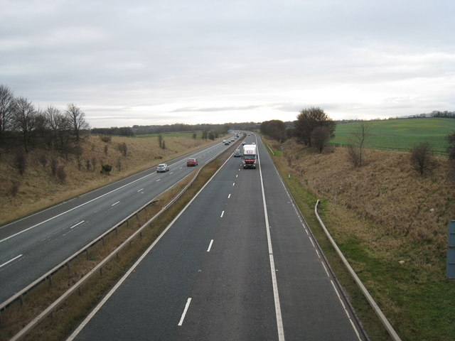 A1(M) Motorway Traffic (view south-west)