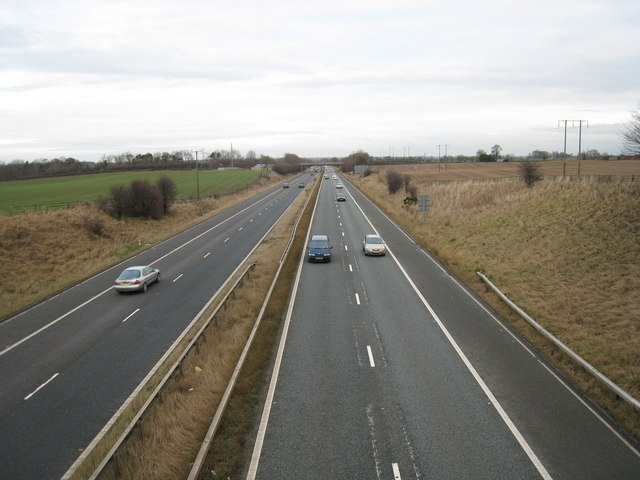 A1(M) Motorway Traffic (view north-east)