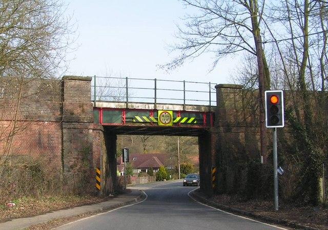 Low railway bridge, Ashurst
