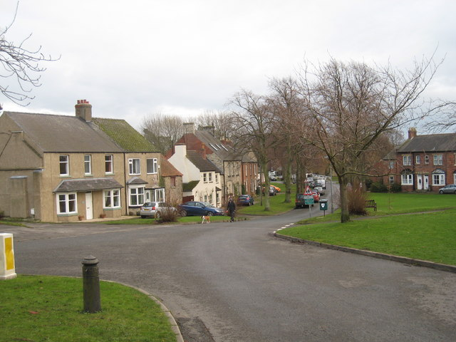 Barton village green from the old cross