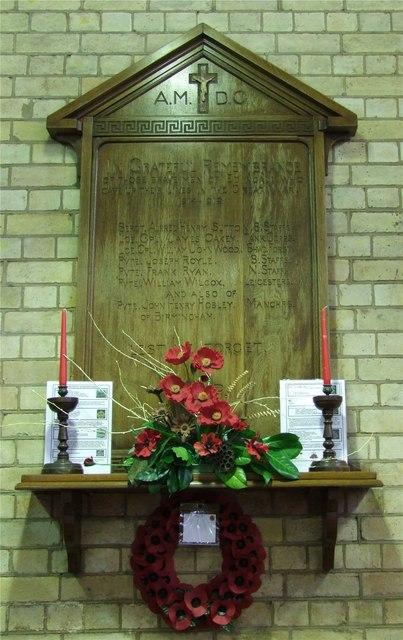 War Memorial in Holy Trinity, Edingale