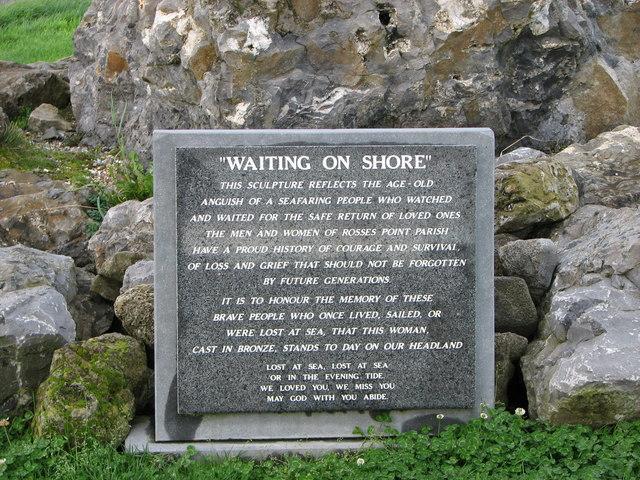 Memorial plaque, Rosses Point
