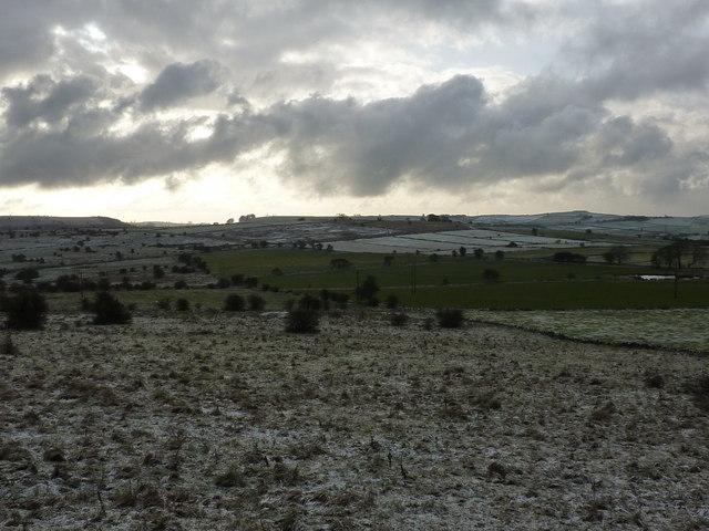 Looking south across Bonsall Moor