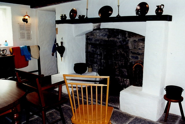 """Cong -  """"Quiet Man""""  cottage interior fireplace"""