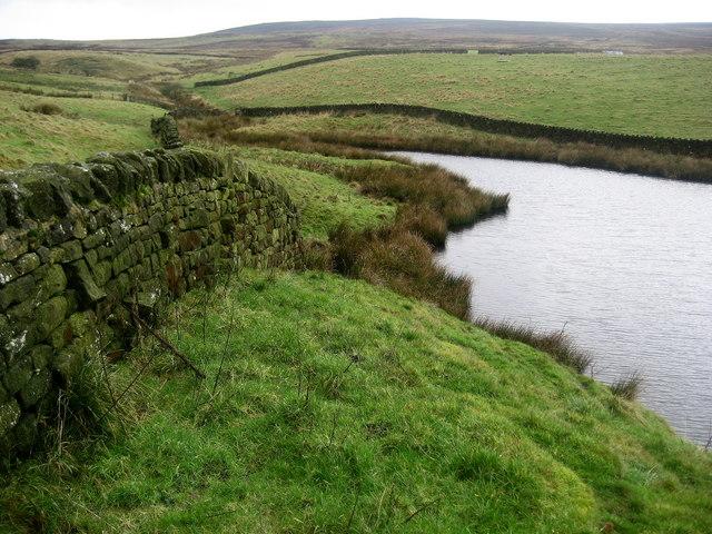 Reservoir Water creeping up Delves Beck