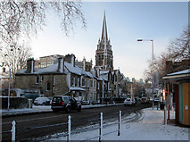 TL4557 : Gonville Place in the snow by John Sutton