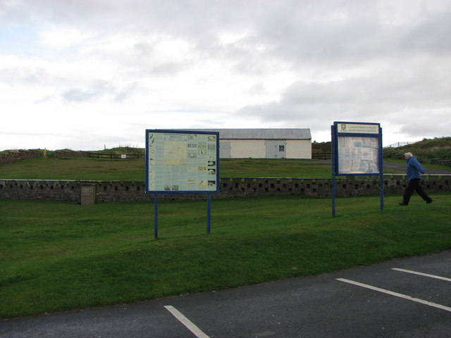 Information signs at Bowmore Point