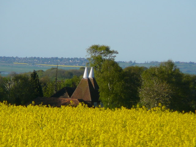 Church Oast seen from Down Court Road