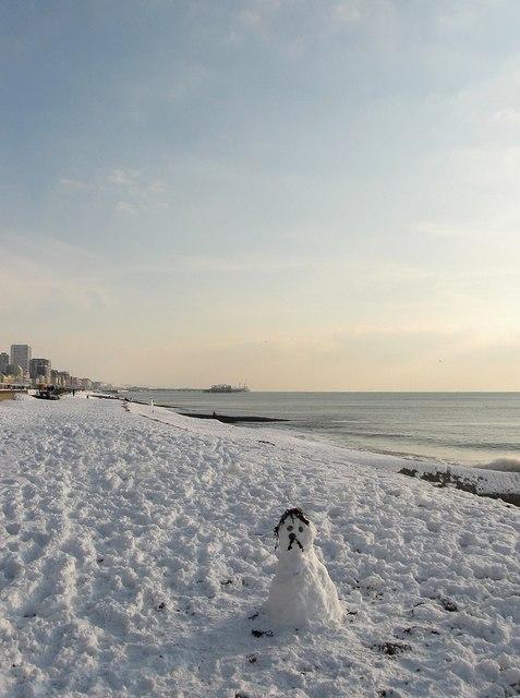 Sad Snowman, Hove Beach