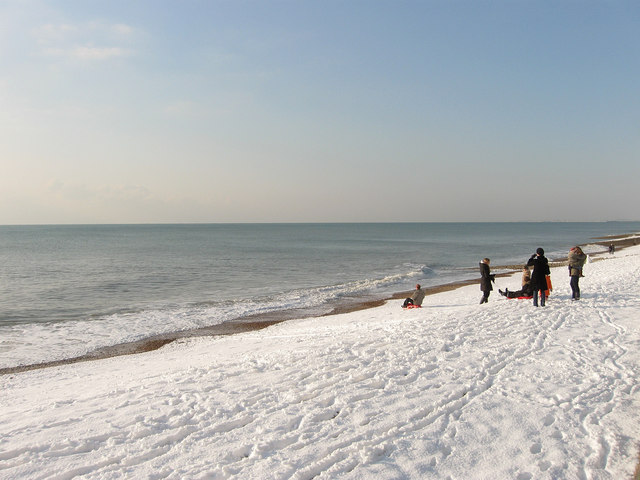 Sledging, Hove Beach